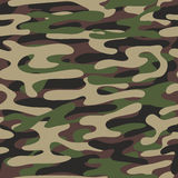 Camouflage pattern background. Woodland style. Military fashion green vector seamless pattern. Royalty Free Stock Image