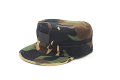 Camouflage pattern cap Stock Photos