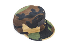 Camouflage pattern cap Royalty Free Stock Image