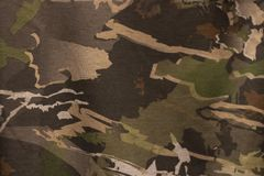 A Camouflage Pattern Close Up.  stock photo