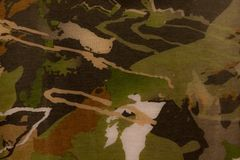 A Camouflage Pattern Close Up.  stock images