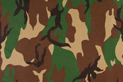 Camouflage pattern on cloth. Royalty Free Stock Image