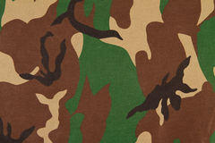 Camouflage pattern on cloth. Stock Image