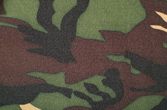 Camouflage pattern on fabric. Royalty Free Stock Image