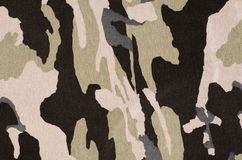 Camouflage pattern on fabric. Stock Photo