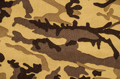 Camouflage pattern on fabric. Stock Images