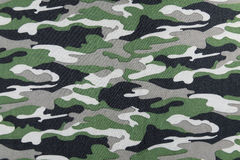 Camouflage pattern on fabric Royalty Free Stock Image