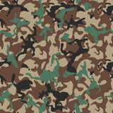 Camouflage pattern. Green military uniform. Camo texture, seamless vector background. Camouflage pattern background seamless vector illustration. Classic stock illustration