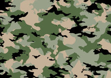Camouflage pattern in green tones Royalty Free Stock Photo