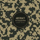 Camouflage pattern in military fabric style. Vector Royalty Free Stock Image