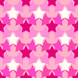 Camouflage pattern with pink stars Stock Images