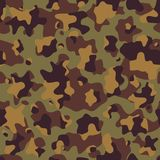Camouflage pattern, seamless vector illustration. Classic military clothing style. Masking camo. Camouflage pattern background, seamless vector illustration stock illustration