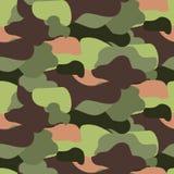 Camouflage pattern seamless vector illustration. Khaki colors texture. vector illustration
