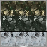 Camouflage pattern. Set of contemporary camouflage tiles with uniform patterns for all seasons. Seamless background tiles for military clothing prints, vehicles Royalty Free Stock Image