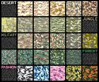 Camouflage pattern set  Stock Photography