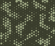 Camouflage pattern. Snake skin style, halftone seamless pattern. Green camo background Stock Photo