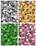 Camouflage pattern vector. Set of camouflage pattern vector Royalty Free Stock Photography