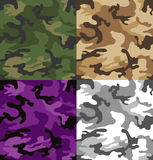 Camouflage patterns (seamless) Royalty Free Stock Photos