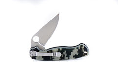 Camouflage pocket knife Stock Photo
