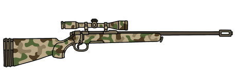 Camouflage rifle Royalty Free Stock Image