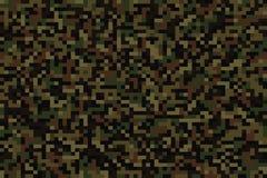 Camouflage sans couture de pixel de forêt Image stock