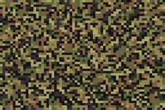 Camouflage sans couture de pixel de forêt Photos libres de droits