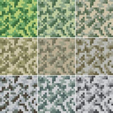 Camouflage seamless. Illustration of digital camouflage #2 seamless patterns Royalty Free Stock Photo