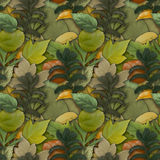 Camouflage seamless background with natural foliage Stock Image