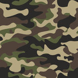 Camouflage seamless pattern background. Classic clothing style masking. Camo repeat print. Green brown black olive colors forest texture. Design element Stock Photos
