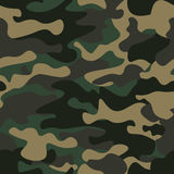 Camouflage seamless pattern background. Classic clothing style masking camo repeat print. Green brown black olive colors Royalty Free Stock Image