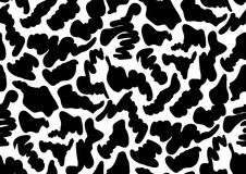 Camouflage seamless pattern in black and white colors. Royalty Free Stock Photography