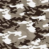 Camouflage seamless pattern, classic style. stock illustration
