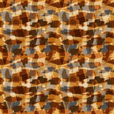 Camouflage seamless pattern. Desert camouflage seamless pattern - illustration Royalty Free Stock Photography