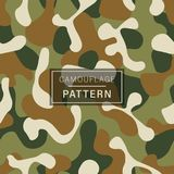 Camouflage seamless pattern. Green brown vector illustration