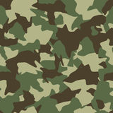 Camouflage seamless pattern. Green, brown, olive colors forest texture Royalty Free Stock Images