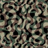 Camouflage seamless pattern with grunge effect Royalty Free Stock Photo