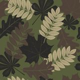 Camouflage seamless pattern, leaves style. royalty free illustration
