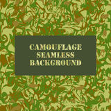 Camouflage seamless pattern Stock Photography