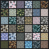 Camouflage seamless pattern. Royalty Free Stock Photography