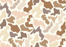 Camouflage seamless pattern in a shades of beige, grey, tan, brown, beige colors. Royalty Free Stock Images