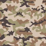 Camouflage seamless pattern. Shapes of foliage and branches. Hunter style. Royalty Free Stock Images