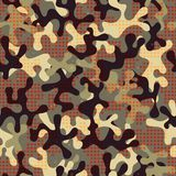 Camouflage seamless pattern with star shapes. Stock Image