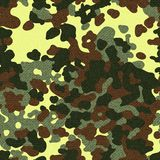 Camouflage seamless pattern with texture. Vector illustration Royalty Free Stock Photos