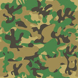 Camouflage seamless pattern. Woodland style Stock Images