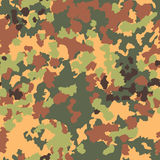 Camouflage seamless pattern. Woodland style Royalty Free Stock Images