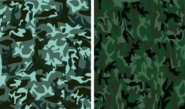 Camouflage seamless patterns Royalty Free Stock Image