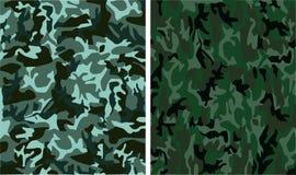 Camouflage seamless patterns stock illustration