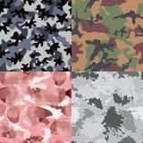 Camouflage seamless patterns. Set of camouflage seamless patterns Stock Image