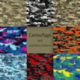 Camouflage seamless set vector illustration