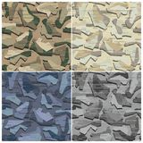 Camouflage Seamless Vector Pattern Stock Photos